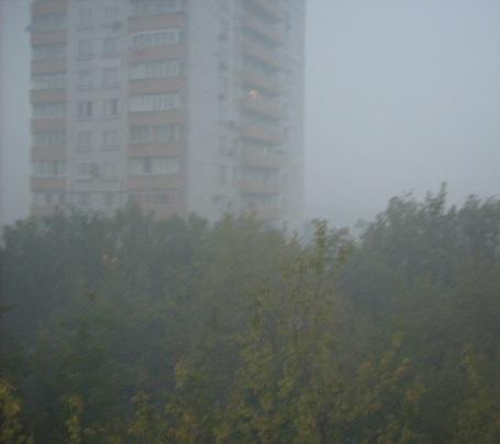 Москва окутана плотным едким дымом