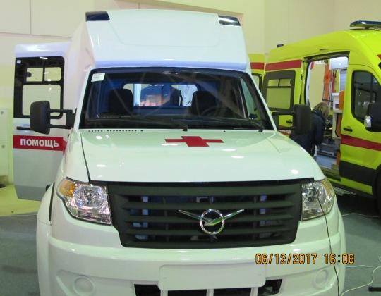 автомобиль скорой медицинской помощи на шасси «УАЗ Профи», модель 2017 года, компания «Автодом».