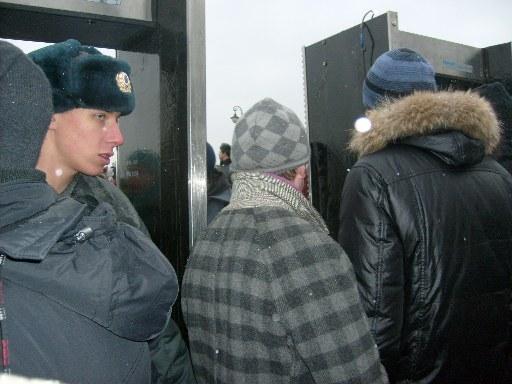 Попасть на Болотную площадь через Лужков мост было невозможно