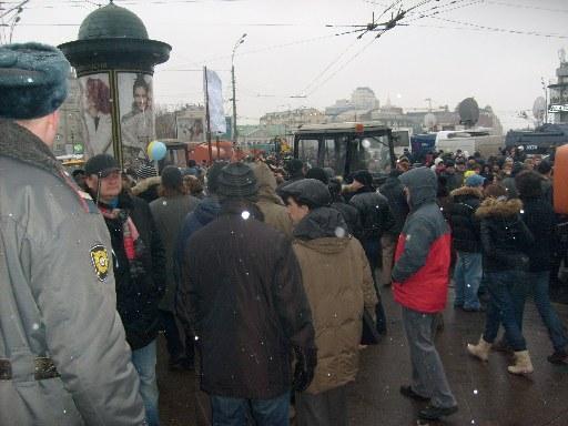 Огромное количество митингующих