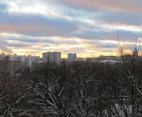 унылая панорама современной Москвы