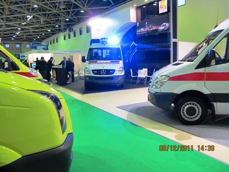 автомобили скорой медицинской помощи на 21 международной выставке Здравоохранение в Экспоцентре